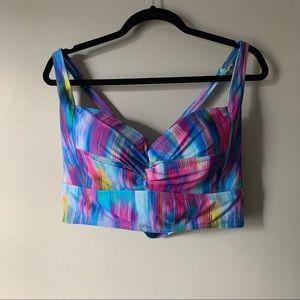 Women's new torrid multi color swim bikini top